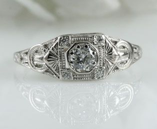 I Am So Obsessed With Art Deco Filigree Rings From The 20s And 30s
