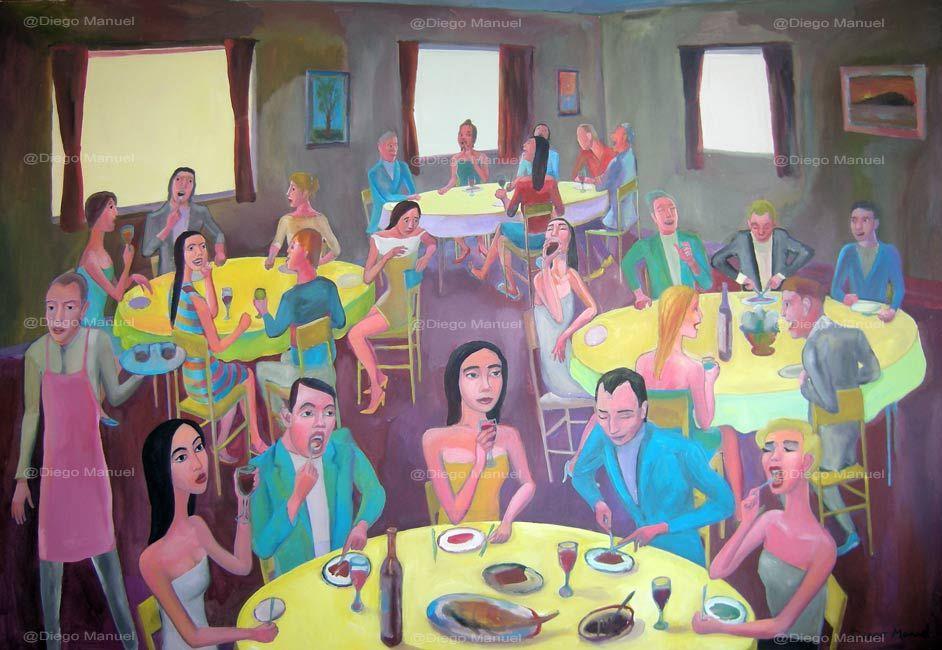 """""""Comida con amigos"""" #art #followart"""