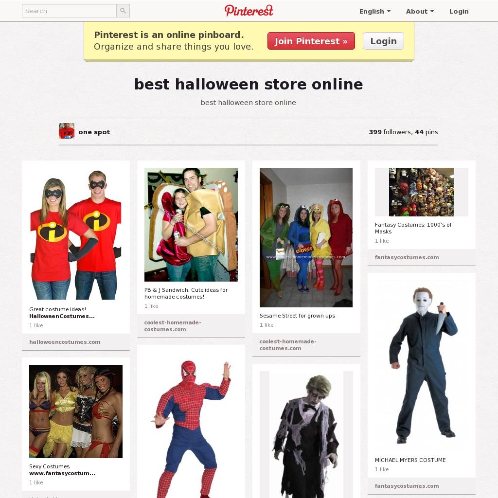 best halloween store online website 'http://pinterest/onespot