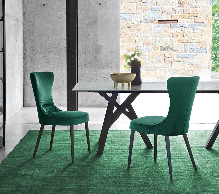 Calligaris rosemary velvet chair