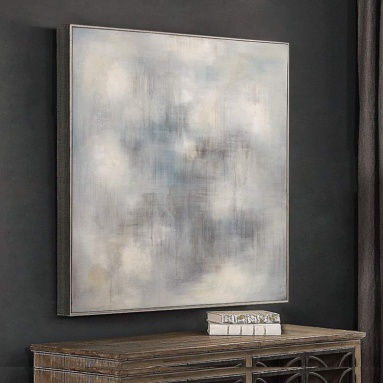 Uttermost Foggy 36 3 4 Square Framed Canvas Wall Art 58n51 Lamps Plus In 2020 Canvas Frame Square Wall Art Framed Canvas Wall Art