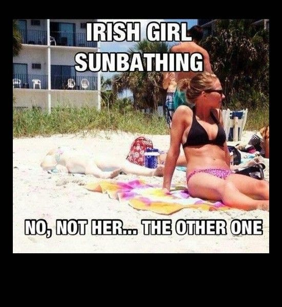 sunbathing Irish girl