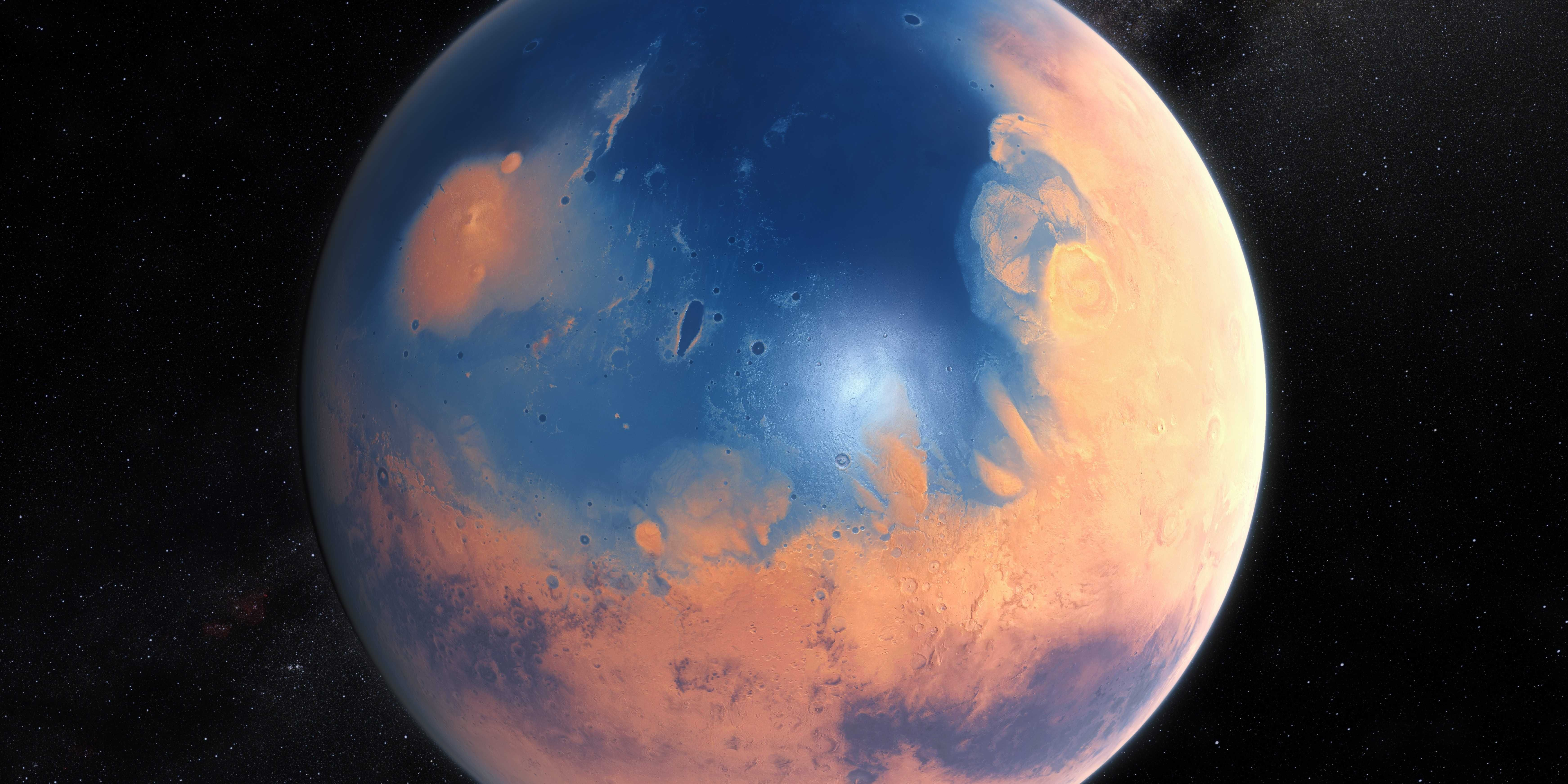 Amazing Images Of What Mars Looked Like With Water Venus In Cancer Planets Art Planets