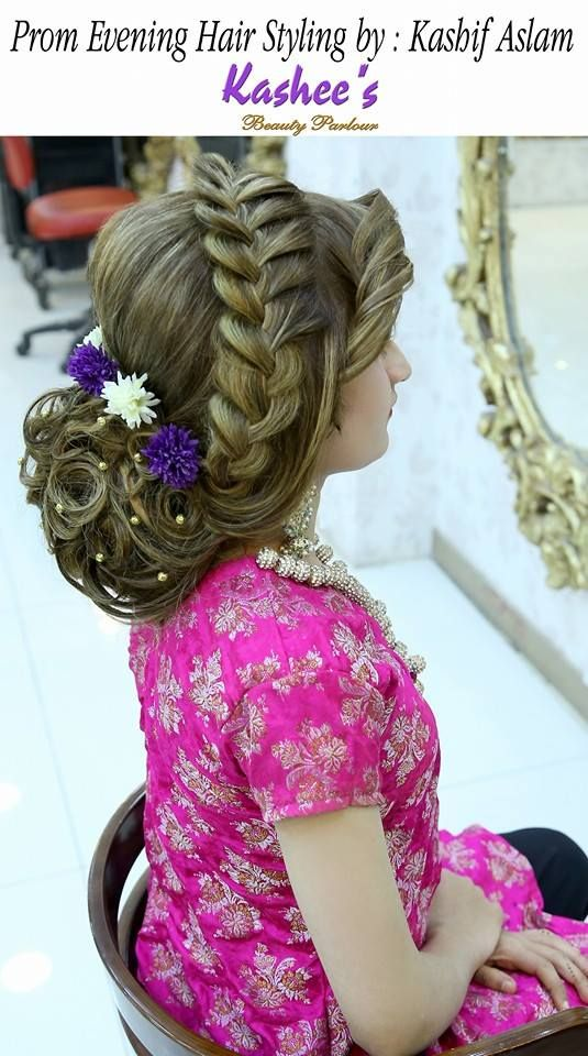 Prom Evening Hair Styling By Kashif Aslam Hair Styles Pakistani Bridal Makeup Hairstyles Pakistani Bridal Hairstyles