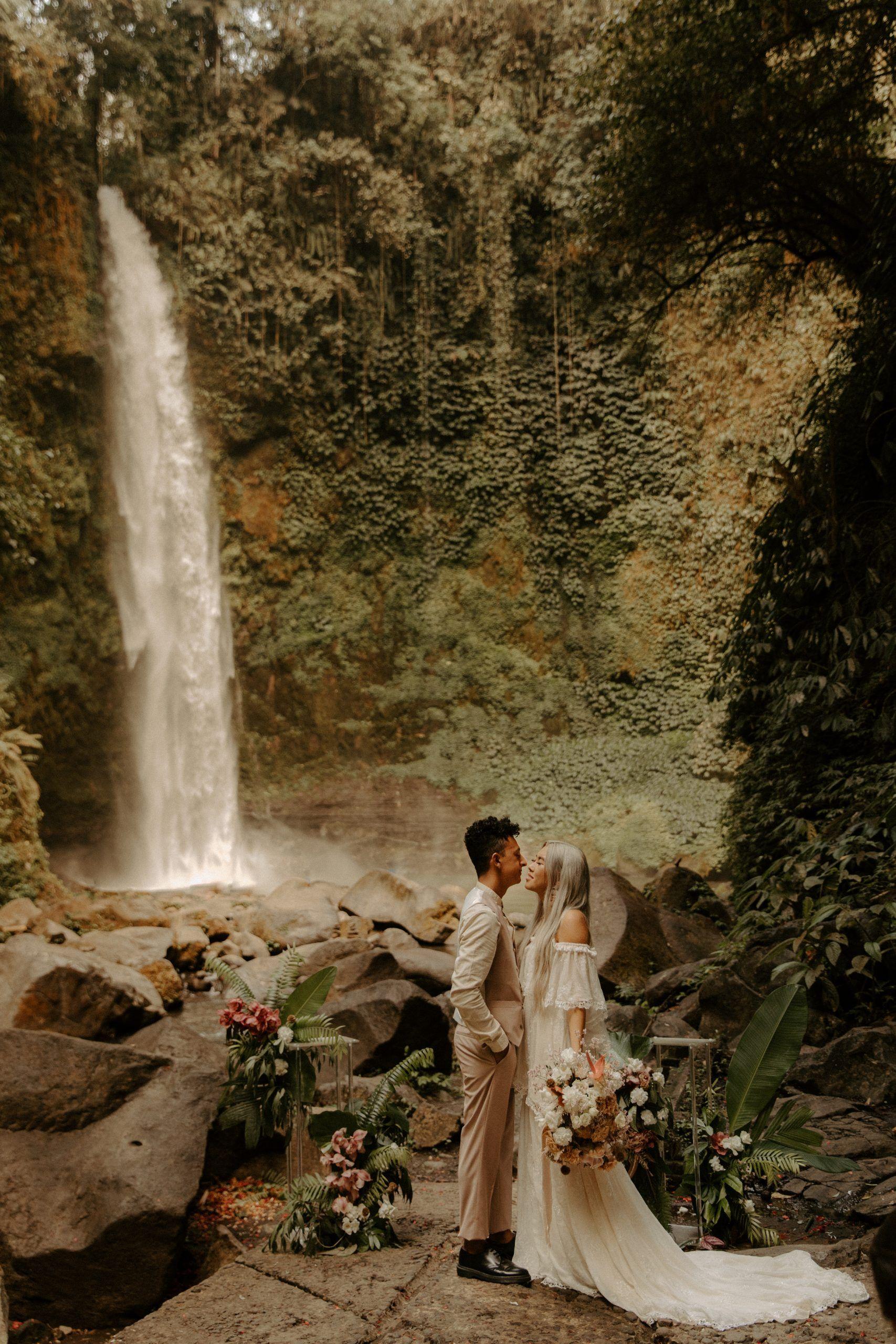 Rice Fields Adventure and Waterfall Elopement Canggu
