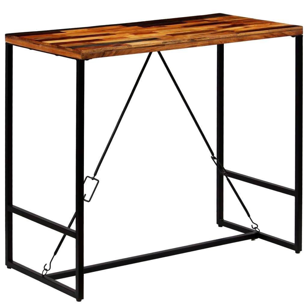 Table De Bar Bois Recycle Solide 120 X 60 X 106 Cm Buy Jewelry