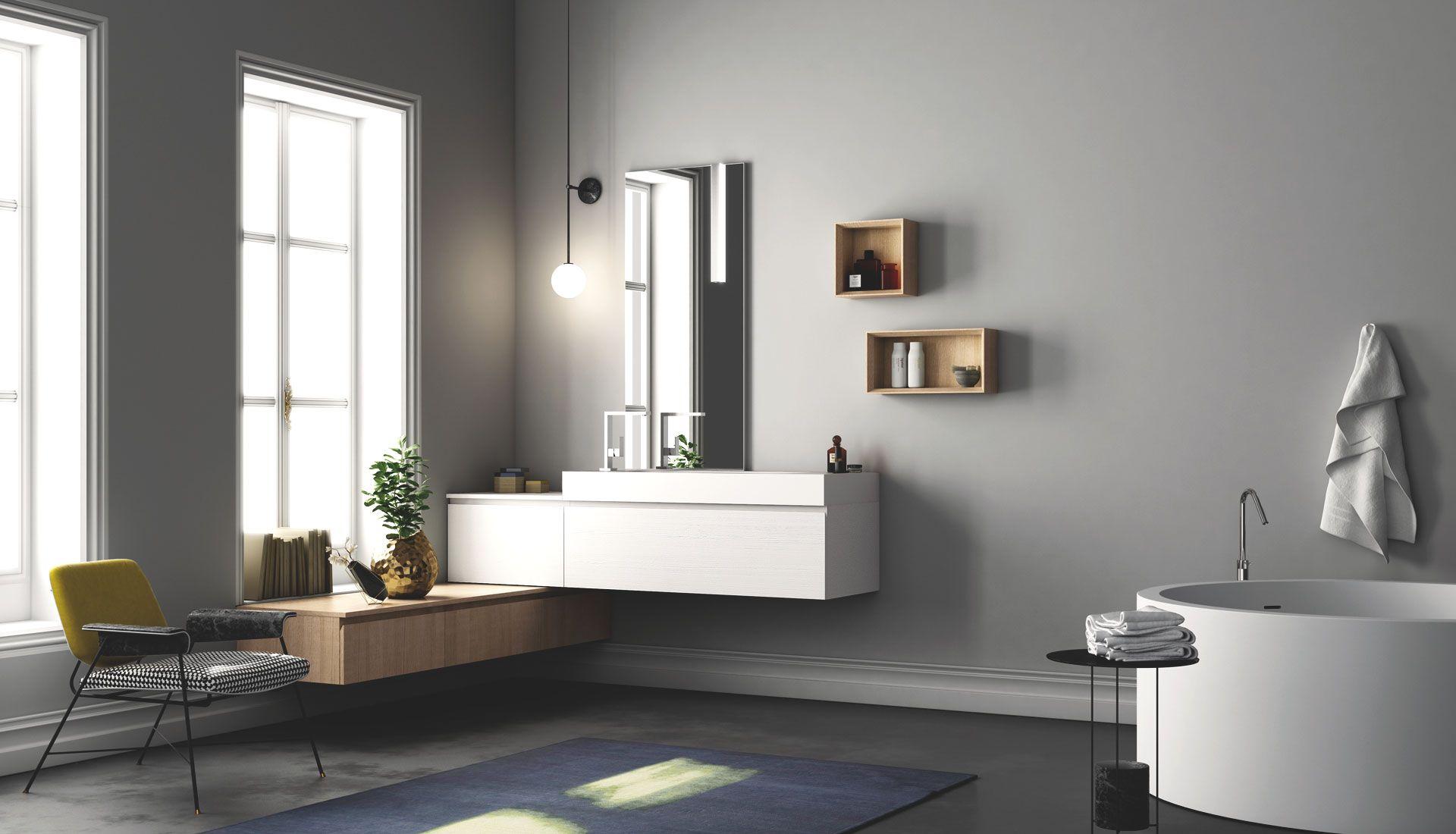 Arredo bagno con gola - Puntotre Arredobagno | Bagni | Pinterest