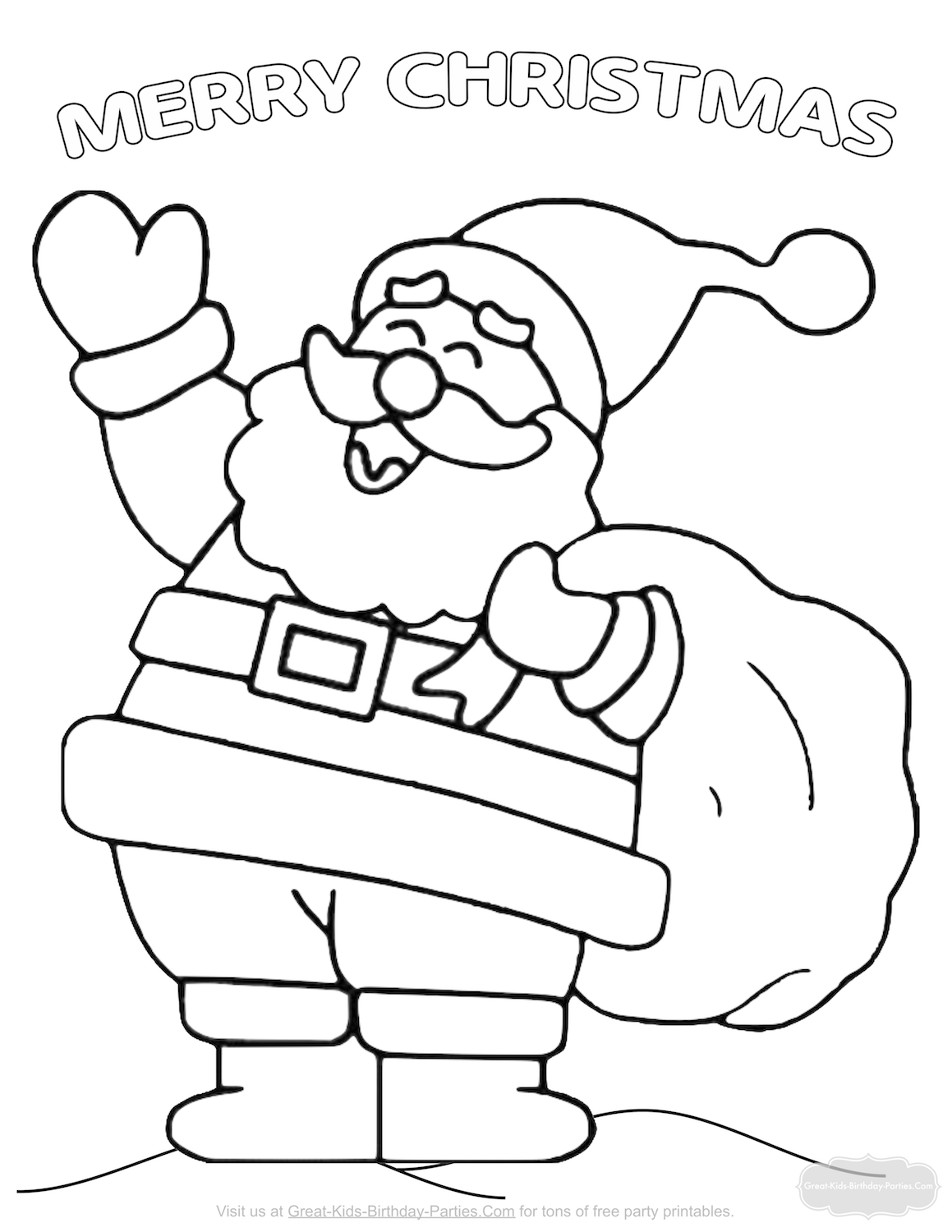 Christmas Coloring Pages Santa coloring pages, Christmas