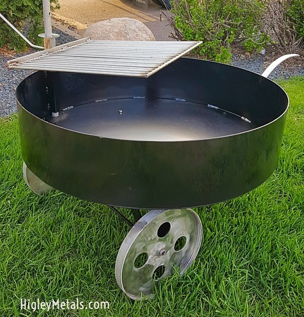 Higleywelding Com Fire Tubs With Grill 36 Diameter X 8 Deep Or 30 Diameter X 8 Deep This Fire Pit Bowl Tub Grilling Stainless Steel Grill Fire Pit Bowl