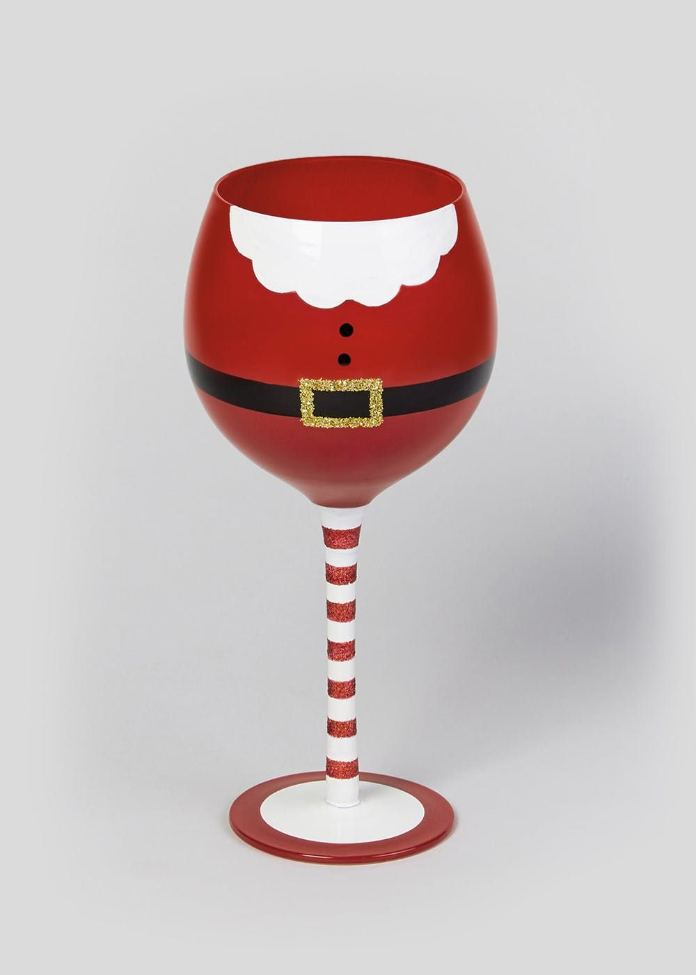 Santa Belly Wine Glass 23cm X 8cm Red Painted Wine Glasses Christmas Halloween Wine Glass Christmas Wine Glasses
