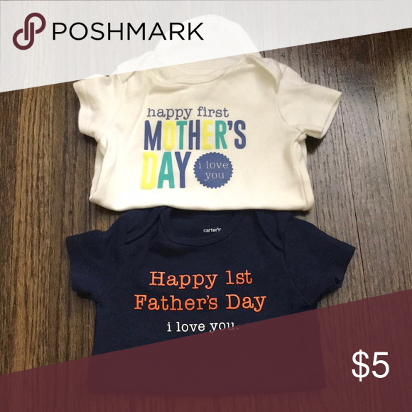 3aca1fcbe Mother's Day/Fathers Day Duo First Mothers Day onesie & First Fathers Day  onesie. Each only worn once. Carter's One Pieces Bodysuits