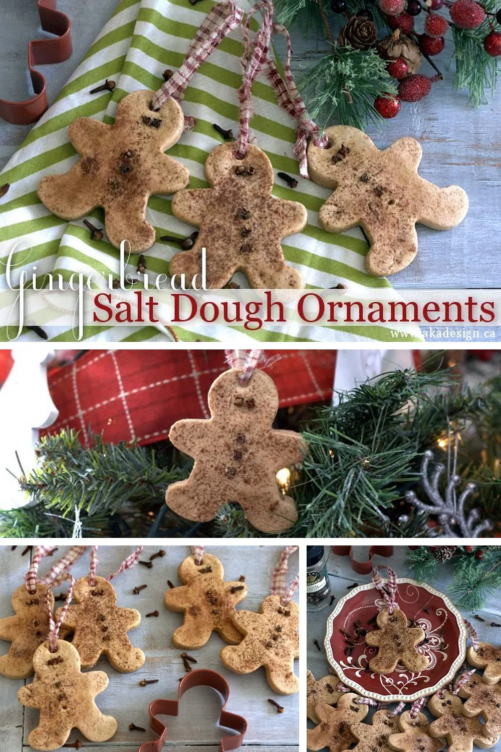 How to Make Your Own Authentic Gingerbread Salt Dough Ornaments #saltdoughornaments