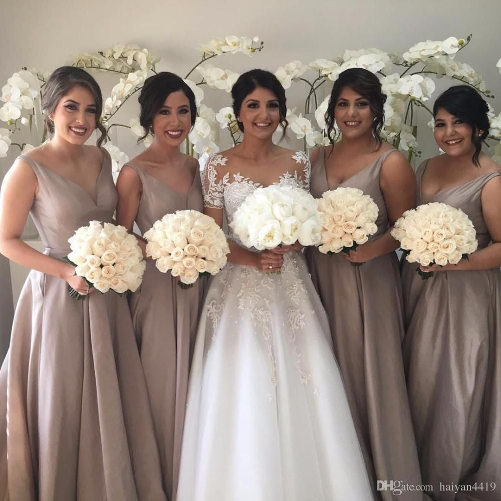 2017 african long bridesmaid dresses v neck illusion wedding guest 2017 african long bridesmaid dresses v neck illusion wedding guest wear taffeta court train sheer back party plus size maid of honor gowns ombrellifo Gallery