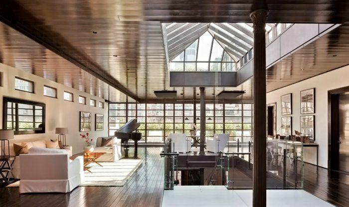 La Deco Loft New Yorkais En 65 Images Loft Pinterest Idee Deco