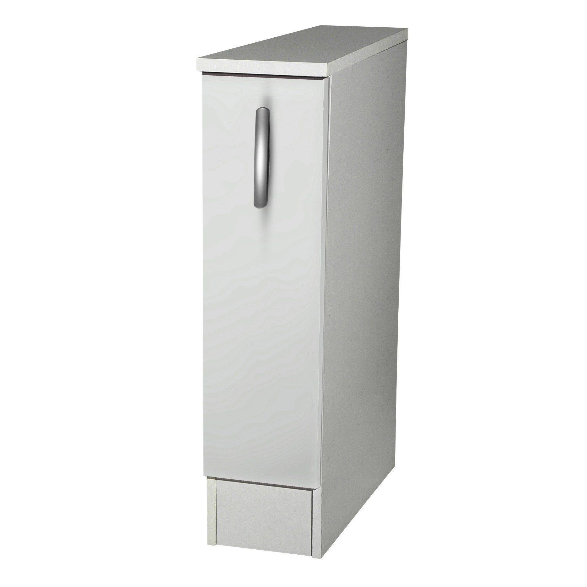 Meuble Colonne Cuisine Leroy Merlin meuble de cuisine bas 1 porte, blanc, h86x l15x p60cm