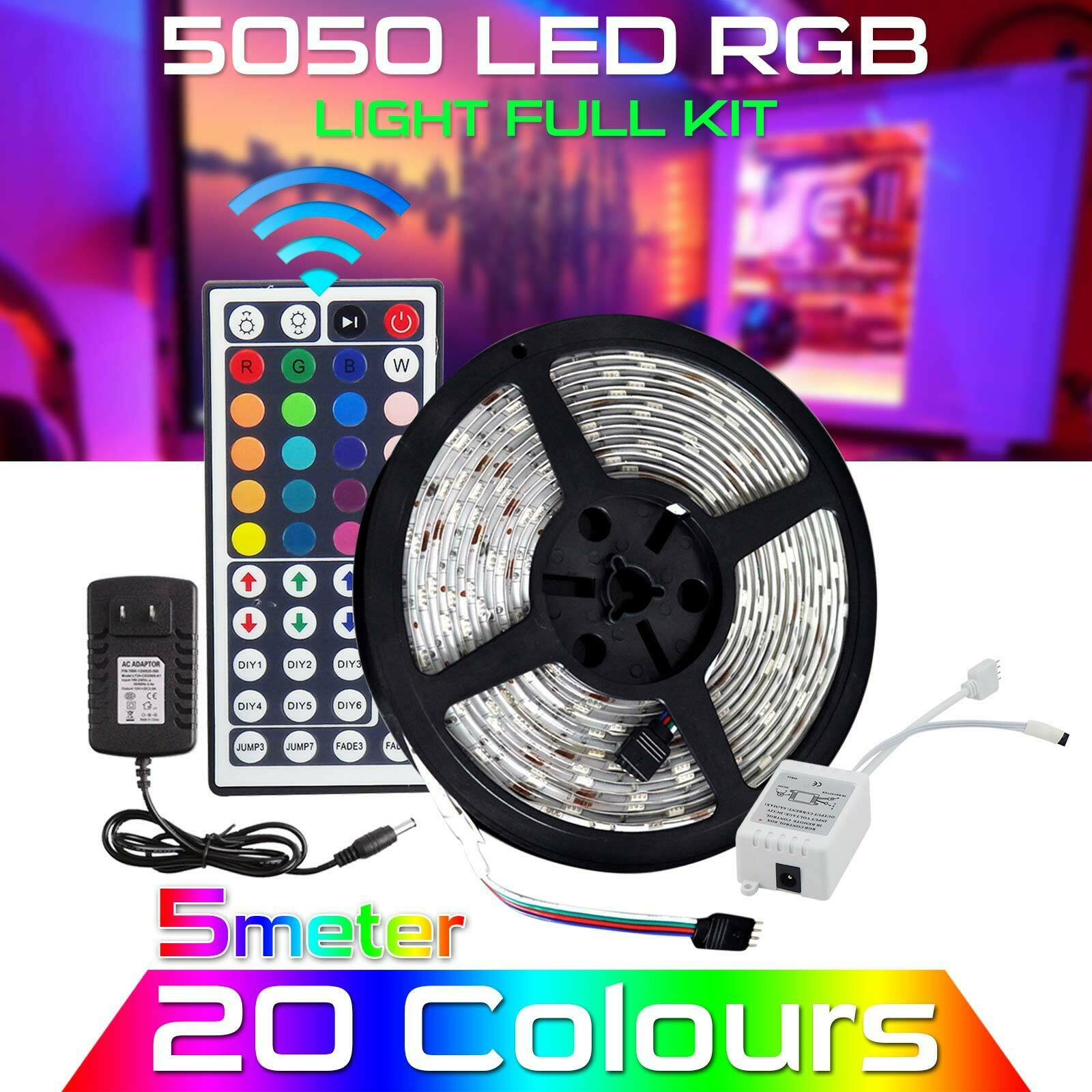 Led Strip Light Smd 3528 Flexible Tape 300led Dc12v Indoor Outdoor Lighting Rope Led Strip Lighting Rgb Led Strip Lights Waterproof Led