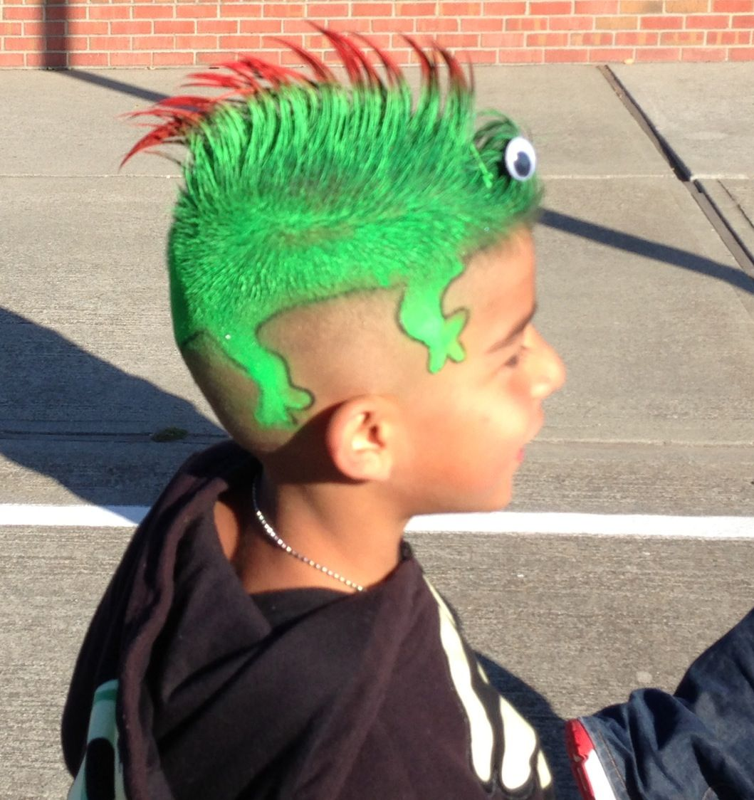 Lizard for crazy hair day | preschool/school stuff! | Pinterest ...