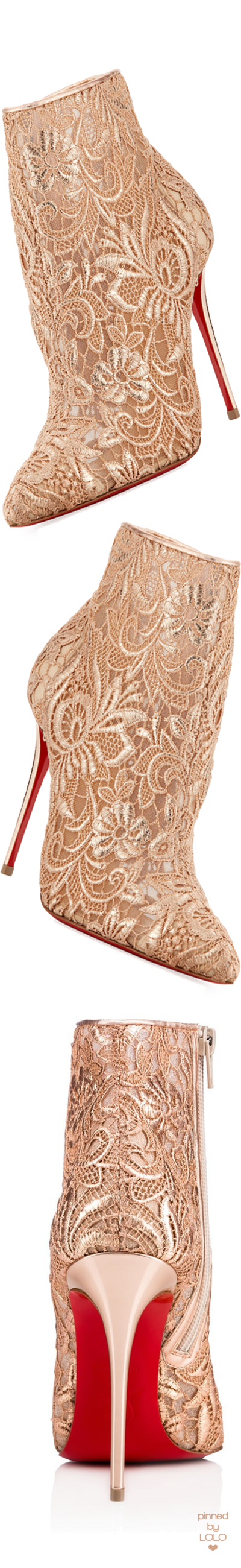 48c1160a990 Christian Louboutin Gipsy Floral-Lace Red Sole Bootie Bolsas