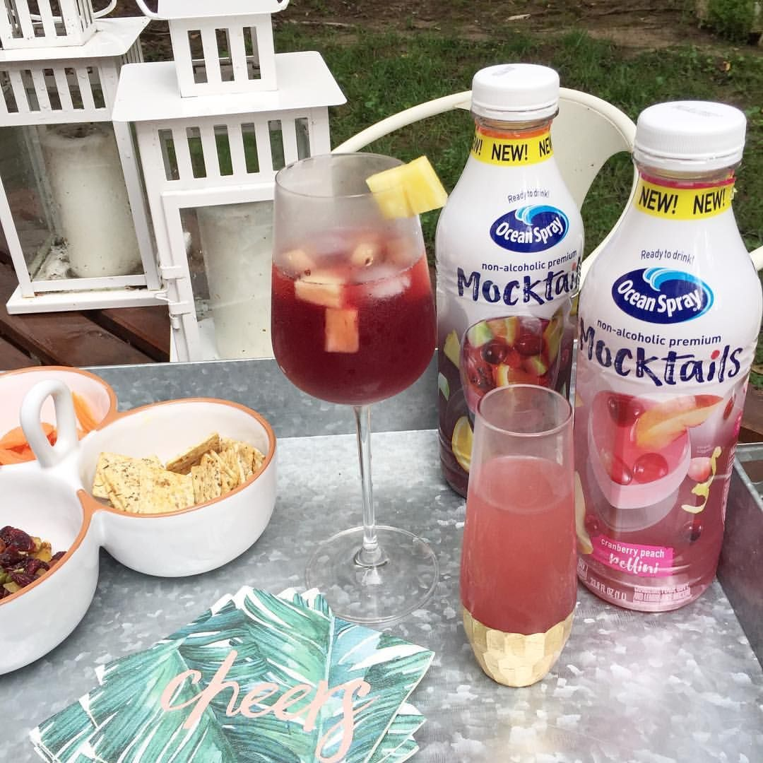 Oceanspray S New Alcohol Free Mocktails Are A Pregnant Girl S Best Friend For Summer Happy Hours Ad Cheersmama Mymocktail Alcohol Free Mocktails Food