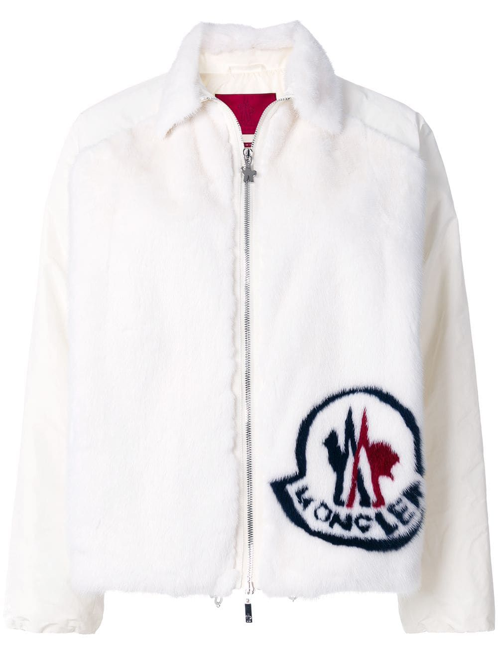 a01e0f6a7 Moncler branded jacket - White in 2019 | Products | Jackets, Moncler ...