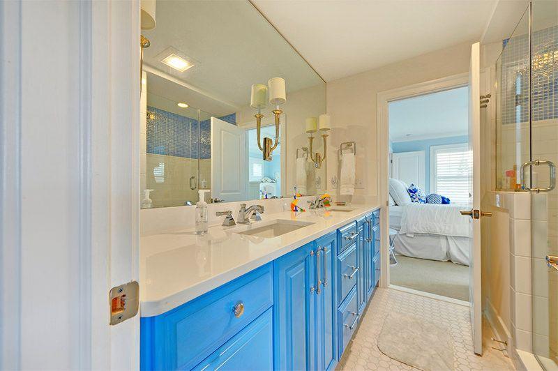 4 Banheiro Moderno Armario Azul