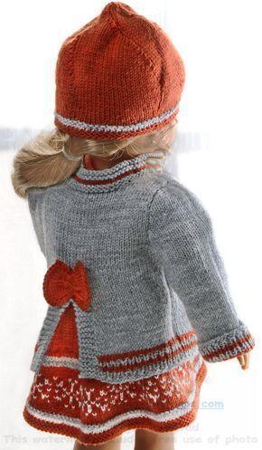 Photo of strickanleitung puppenkleider – Herbstmode  für Ihre Puppe in rost, grau und we…