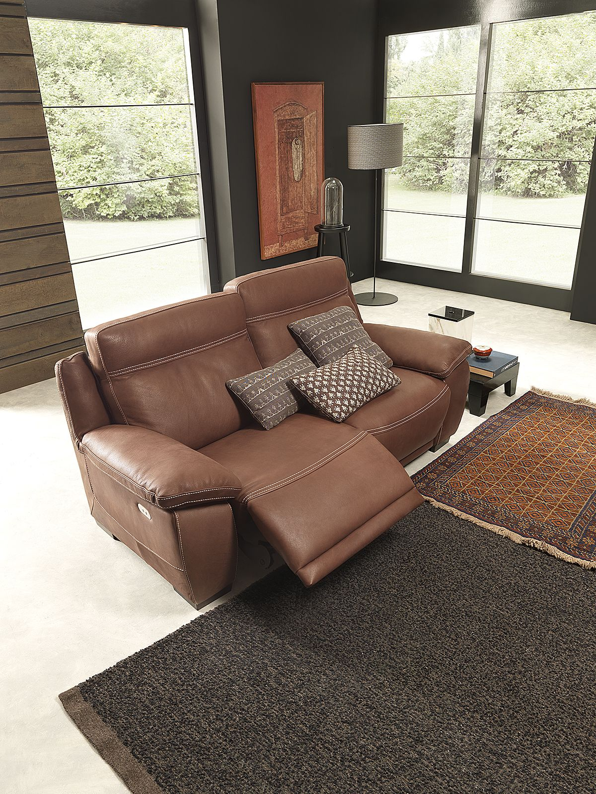 Natuzzi Editions Leather Couches Living Room Living Room Recliner Brown Leather Couch Living Room