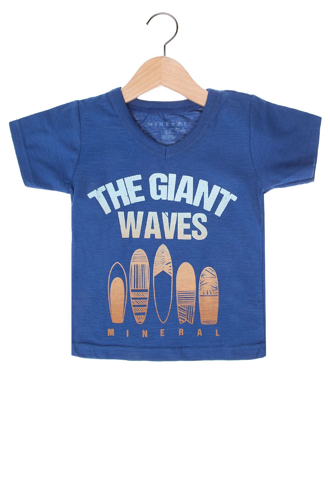 Camiseta Mineral Giant Infantil Azul