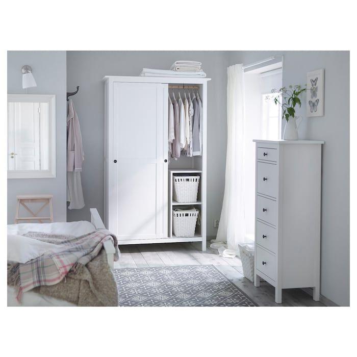 Ikea Hemnes Ladekast Zwart.Hemnes Ladekast 5 Lades Wit Gebeitst In 2019 Nieuw Huis Tudorpark