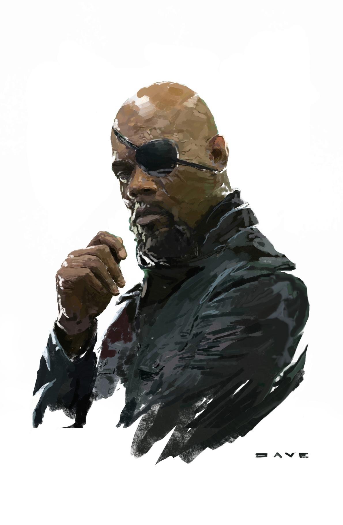Nick Fury By Dave Seguin Hqs Marvel Herois Marvel Marvel