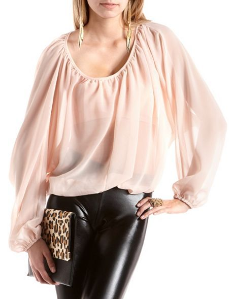 From Our Bloom Collection This Flowy Blouse Comes In Sheer Chiffon