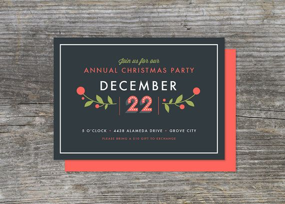 Christmas or Holiday Party Invitation, Holiday Berry Bash (15)