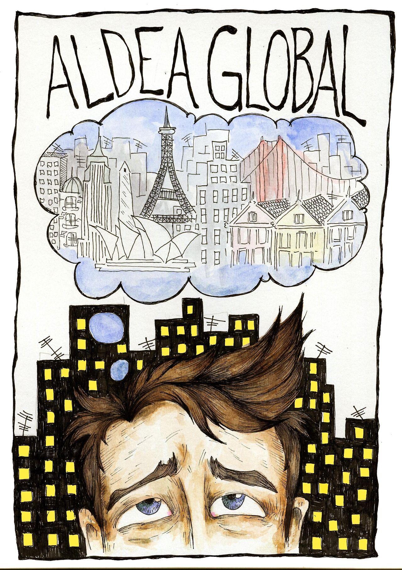 20 / Delfina Peydro / Ciudades / from: La vuelta al mes en 30 ilustradores