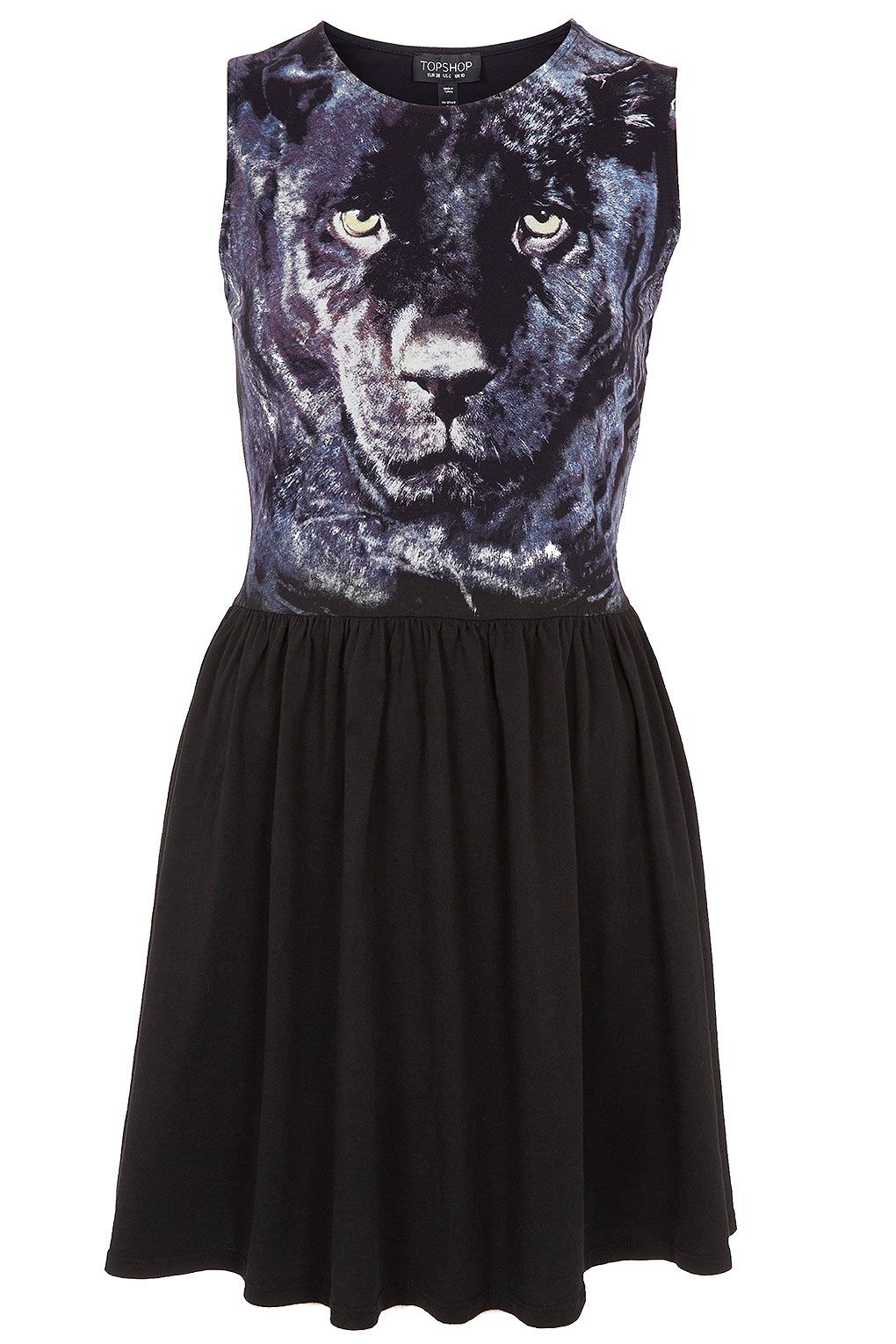 PANTHER FACE SKATER DRESS Price: £28.00 // Now this is- as Tyra Banks would say, fierce!