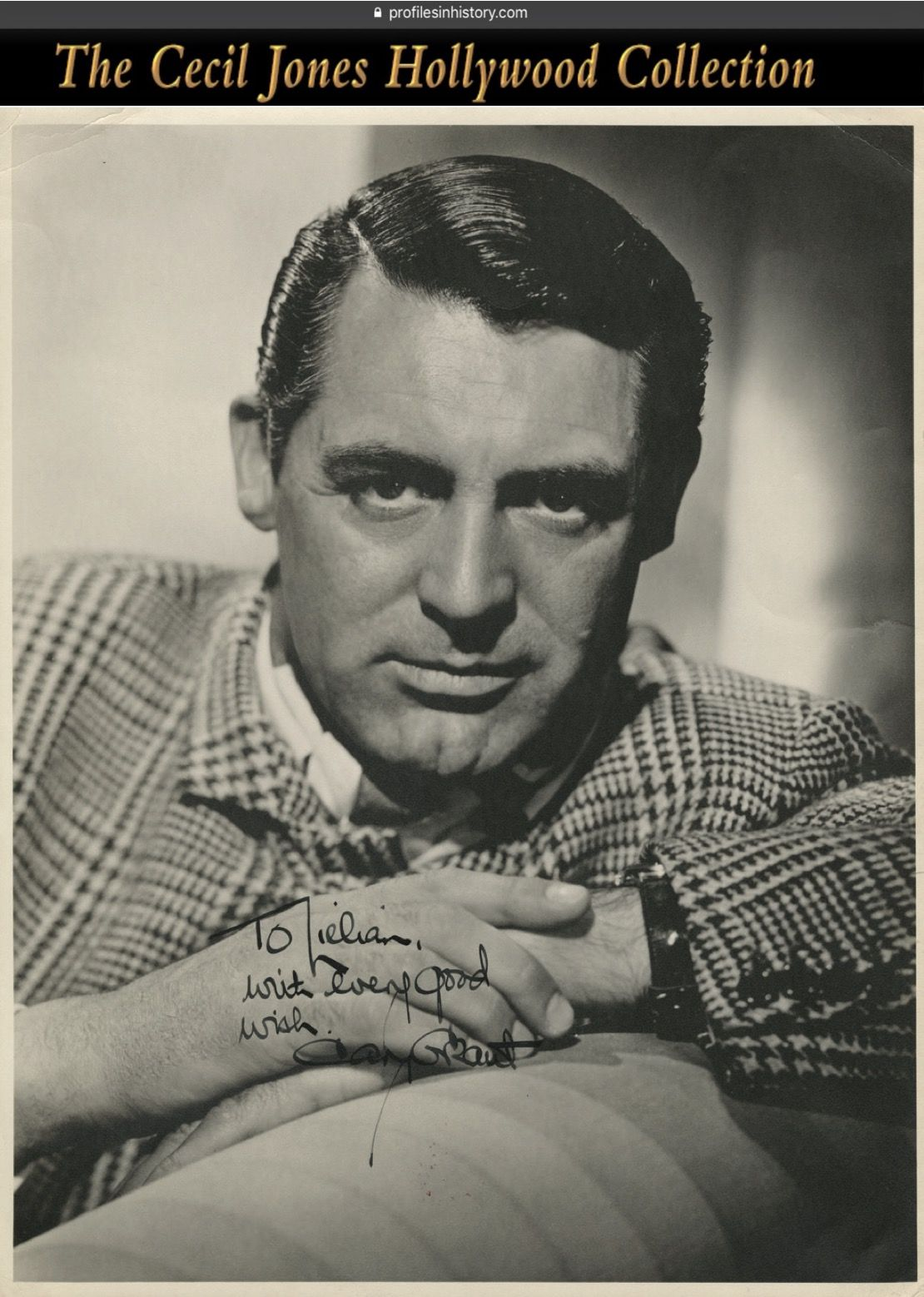 2 year old boy hairstyles cary grant  magnificent signed oversize photograph ca s