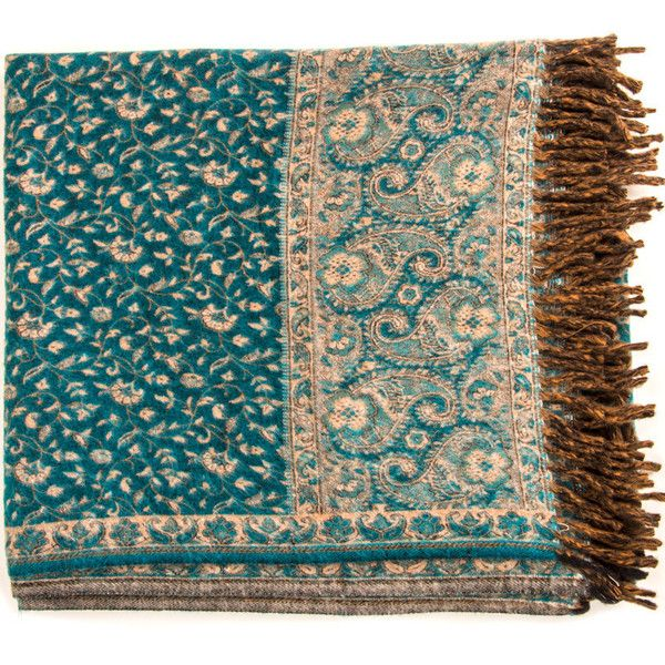 Azure Blue Yak Wool Throw Handwoven Classic Paisley Motifs Wool Throw,... ($37) ❤ liked on Polyvore featuring home, bed & bath, bedding, blankets, blue bedding, paisley blanket, flower stem, hand woven wool blanket y paisley throw blanket