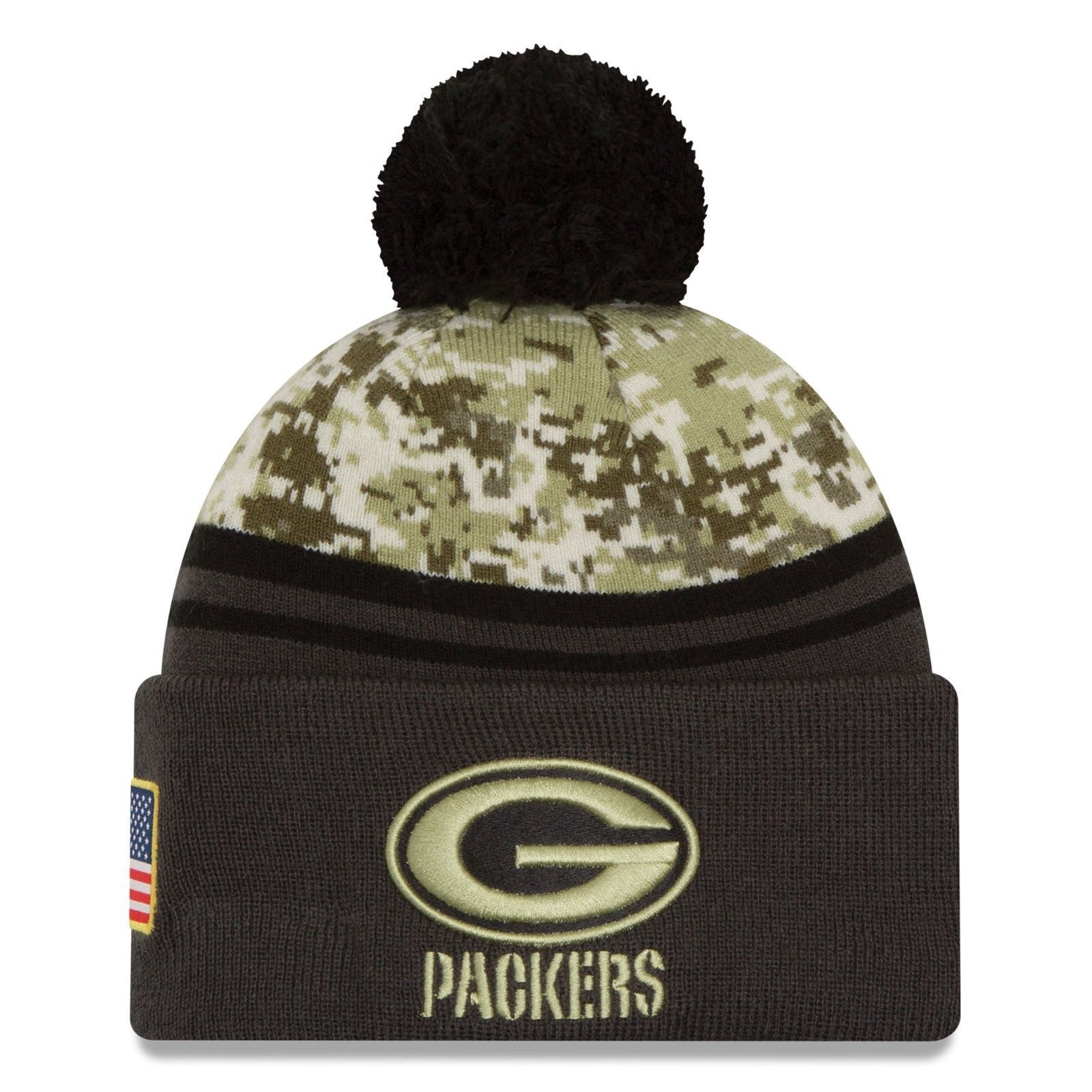 Era Green Bay Packers Salute To Service Knit Hat 2016  dc68ffcd1