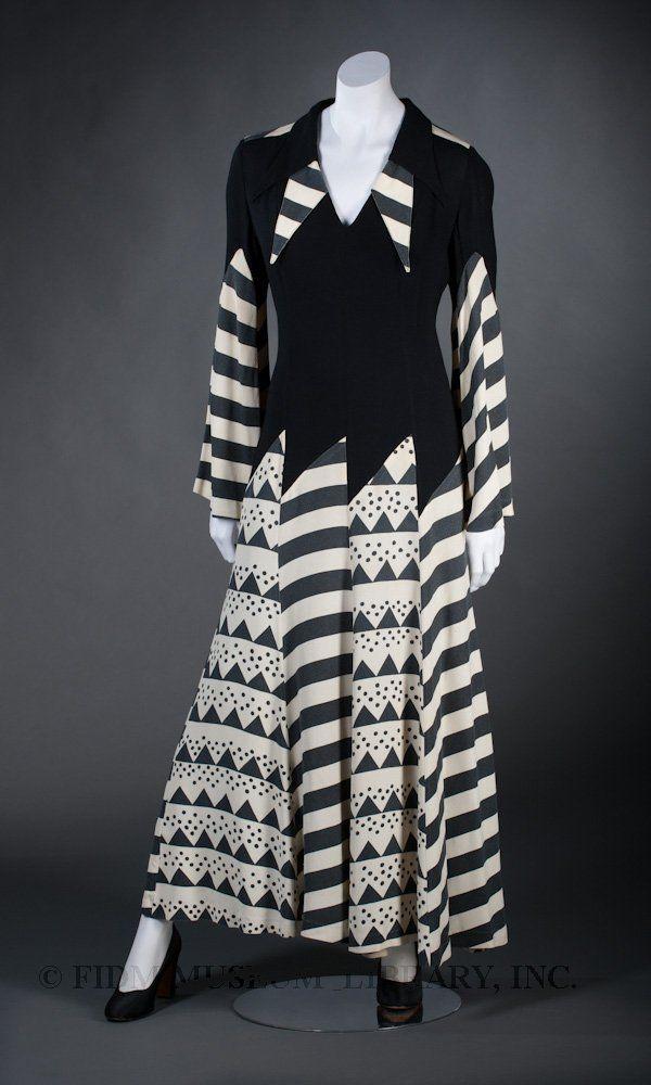 1969 - Maxi-dress by Ossie Clark with print by Celia Birtwell