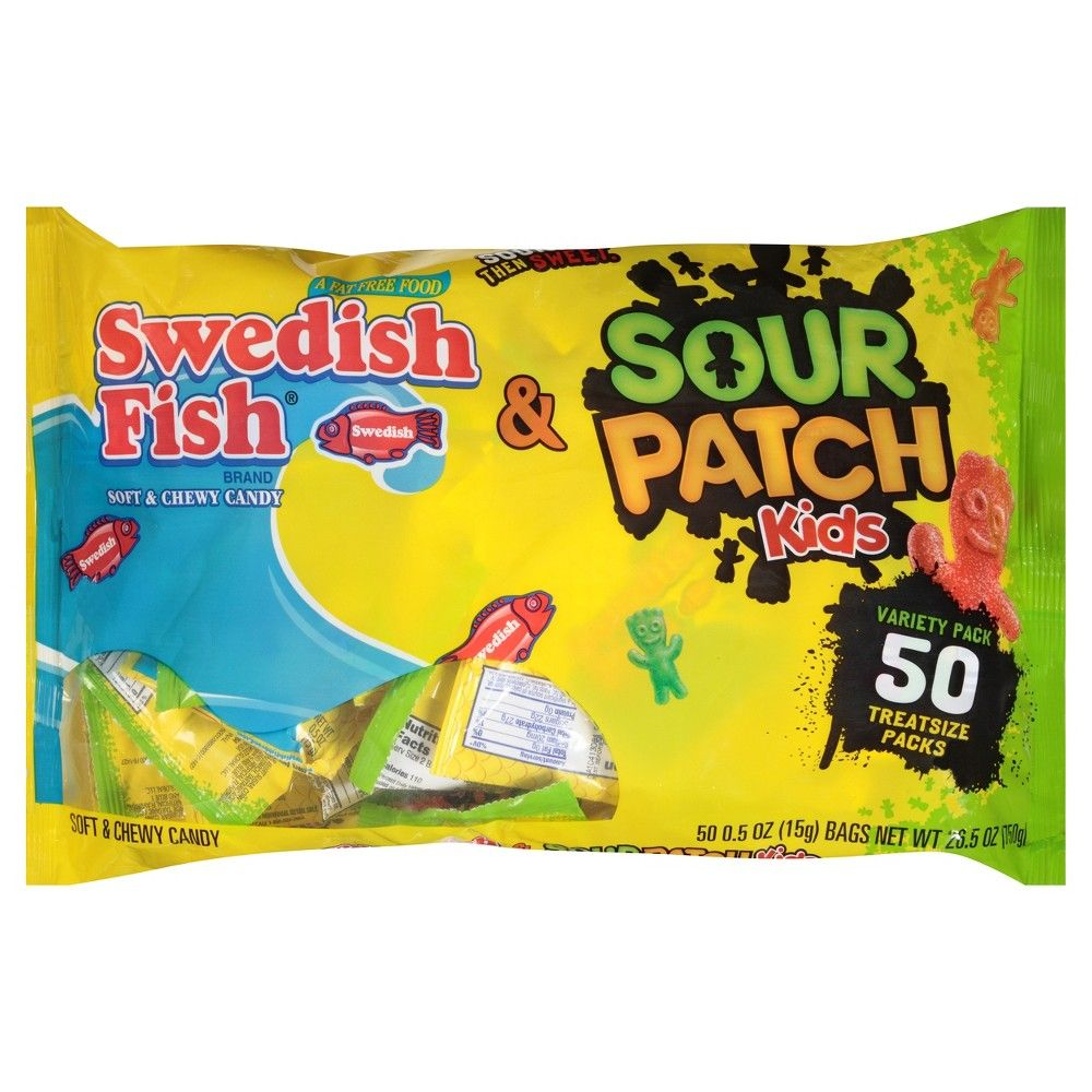 Swedish Fish and Sour Patch Kids Treat Size Halloween