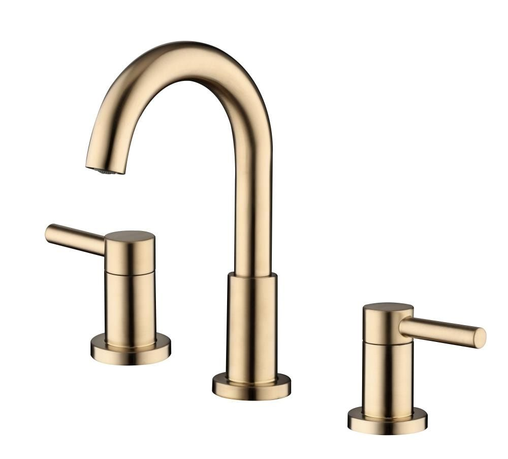 Allen Roth Harlow Brushed Bronze 2 Handle Widespread Watersense Bathroom Sink Faucet With Drain Lowes Com In 2021 Sink Faucets Bathroom Sink Bathroom Sink Faucets