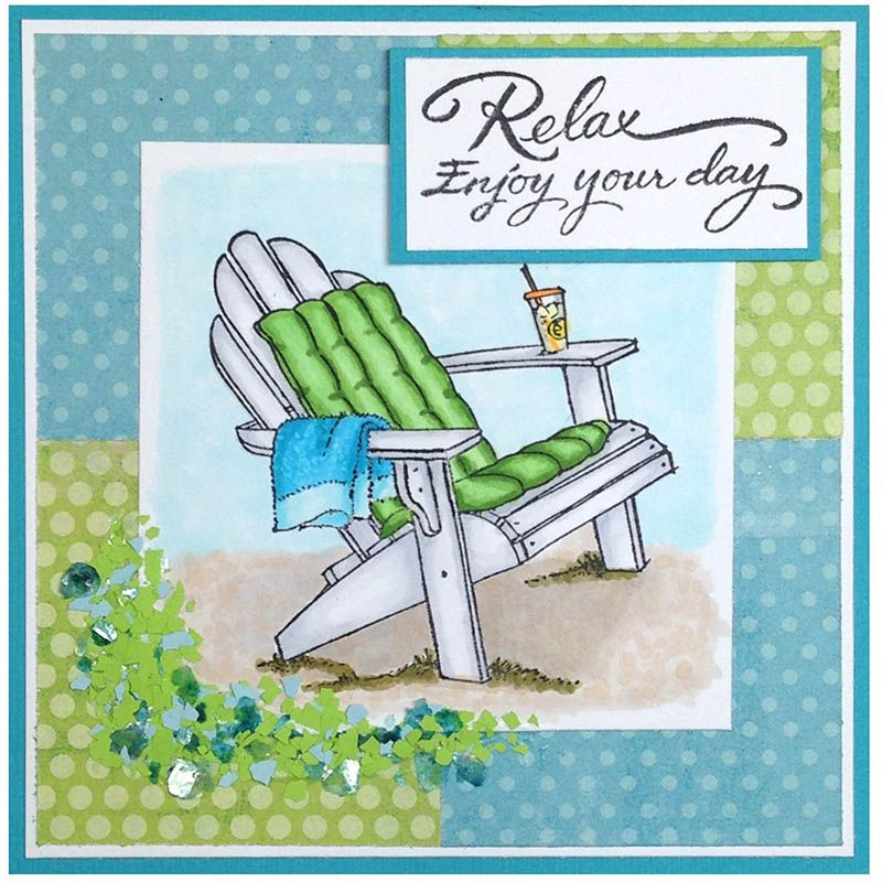Spend every single day at the beach in this cozy, cushioned chair and enjoy your lemonade and your day! Close your eyes and let this card take you there.