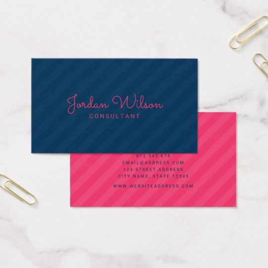 Stylish modern blue and pink stripes business card by rosewood and stylish modern blue and pink stripes business card by rosewood and citrus on zazzle reheart Gallery