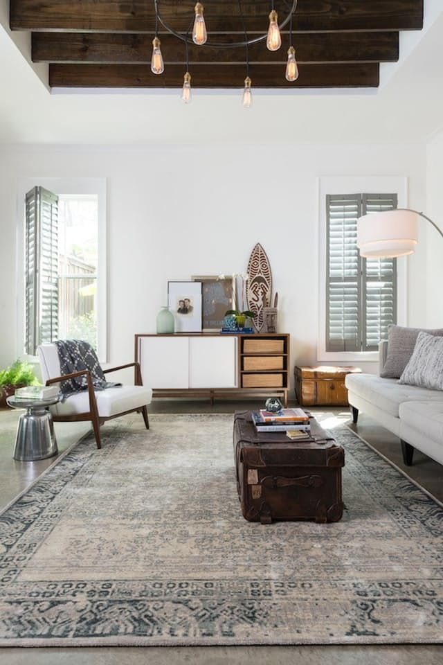 Rug In Living Room How To Decorate A With Fireplace The Middle Choose Right For Every Loloi Rugs Apartment Therapy
