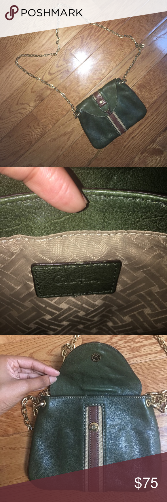 Cole Haan leather crossbody bag Authentic, used a few times, purchased at Cole Haan, Cole Haan Bags Crossbody Bags