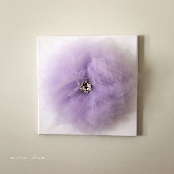 Lavender Flower Wall Art Nursery Wall Decor Lavender And Etsy In 2021 Baby Wall Art Girly Room Decor Flower Wall Decor