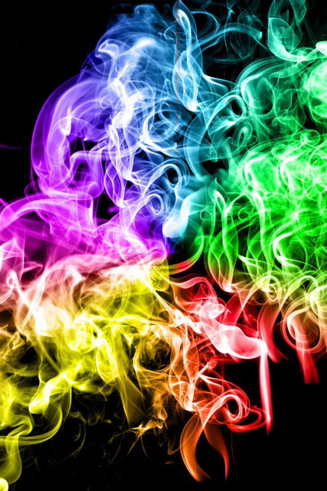Pin By Jena On Photography Smoke Wallpaper Rainbow Wallpaper Neon Rainbow