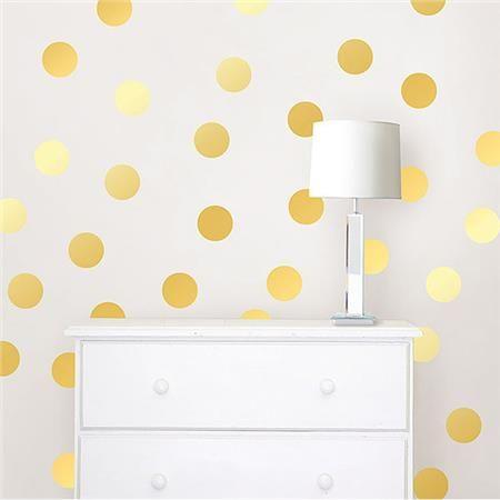 Gold Confetti Dots Wallpops Wall Decal Confetti Wall Polka