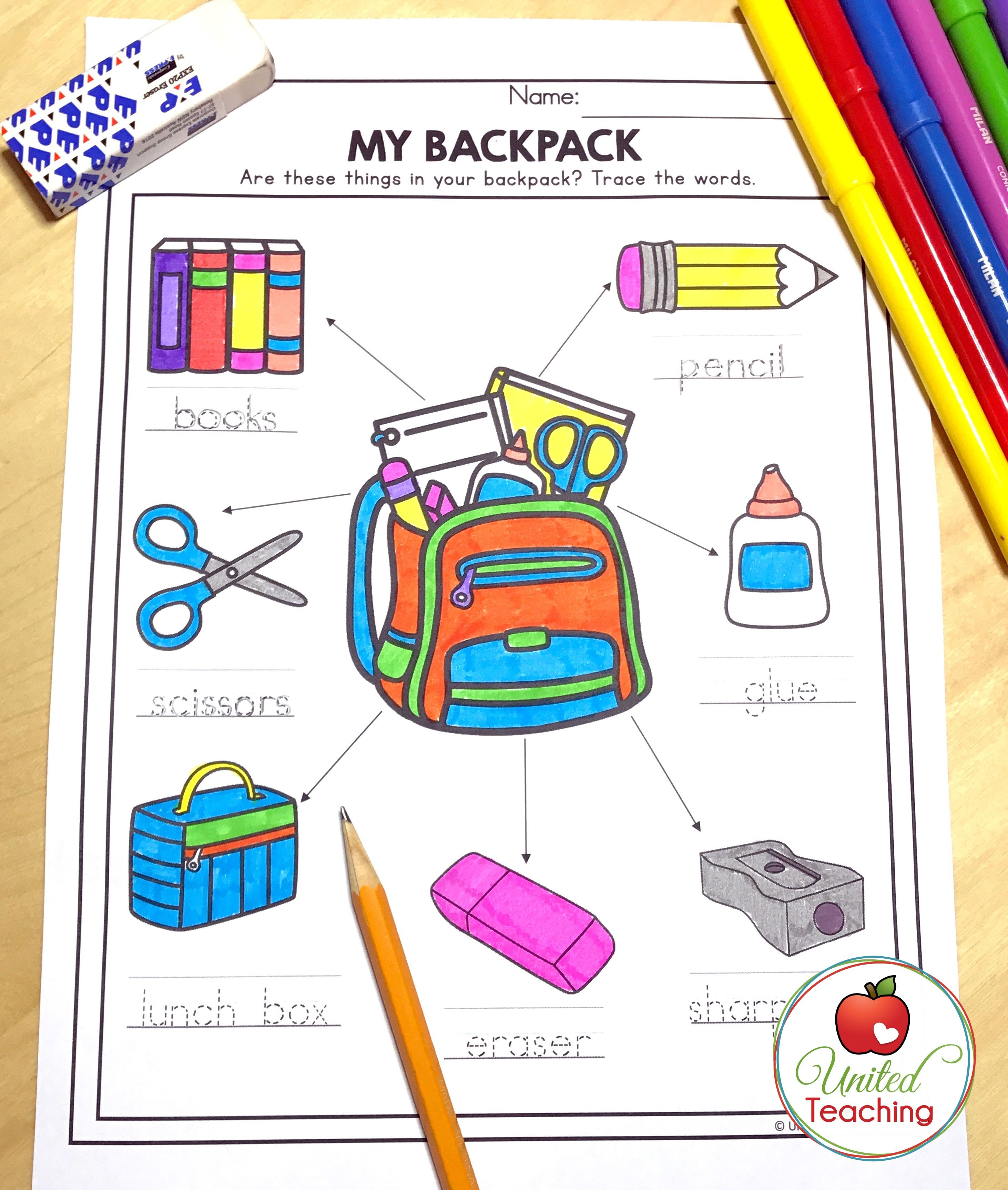 Practice How To Label A Picture And Handwriting At The