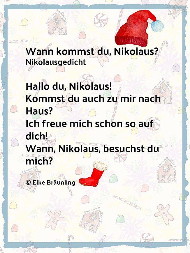 Wann Kommst Du Nikolaus Elkes Kindergeschichten Nikolausgedichte Gedichte Zum Advent Weihnachtsgedicht Kinder
