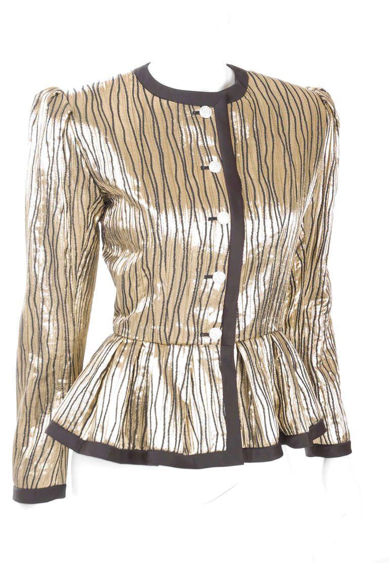 85689ada841 Yves Saint Laurent Brocade Jacket   Silk   Pinterest   Yves saint ...